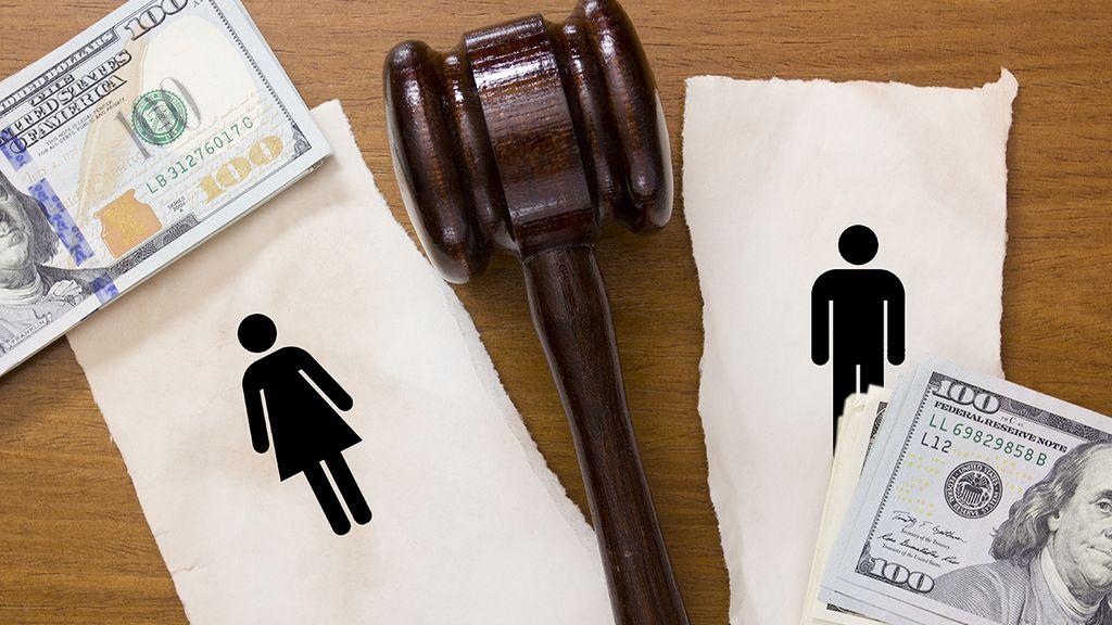 при разводе как делится кредит